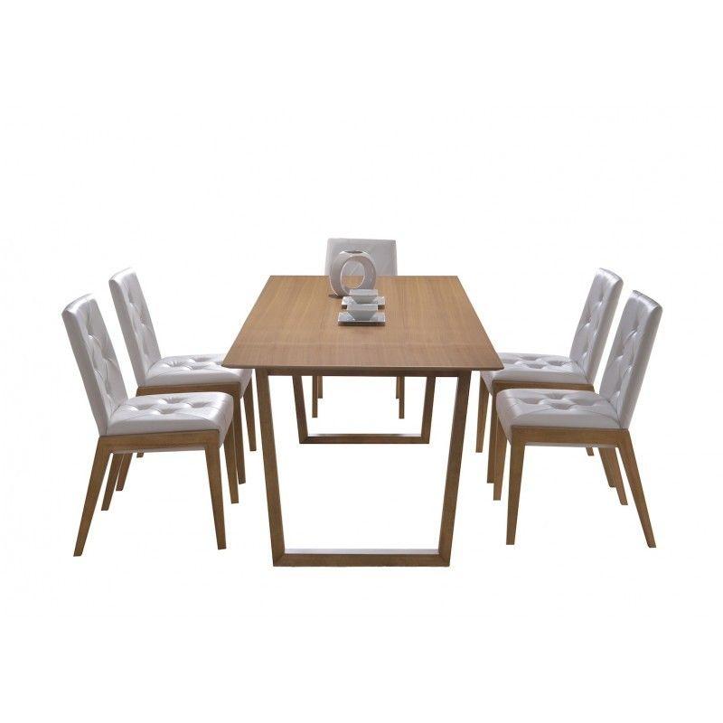 Les matières et couleurs naturelles de la table à manger design EWEN