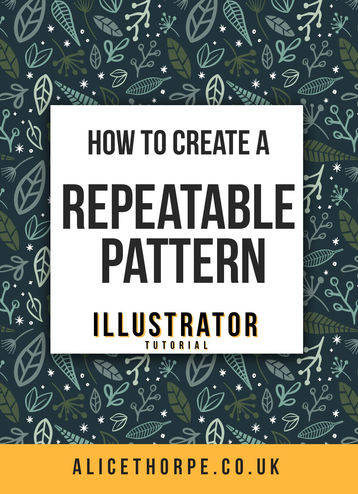 Learn how to create a seamless repeatable pattern using Adobe Illustrator. An easy to follow tutorial for beginners.