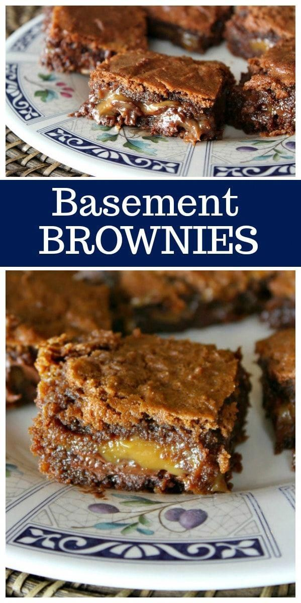 Basement Brownies, otherwise known as the best Chocolate Caramel Brownies!  Recipe from  via @recipegirl
