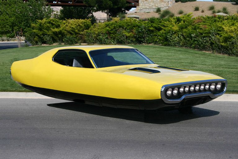Vintage Cars Transformed Into Hovering Space Vehicles Cars