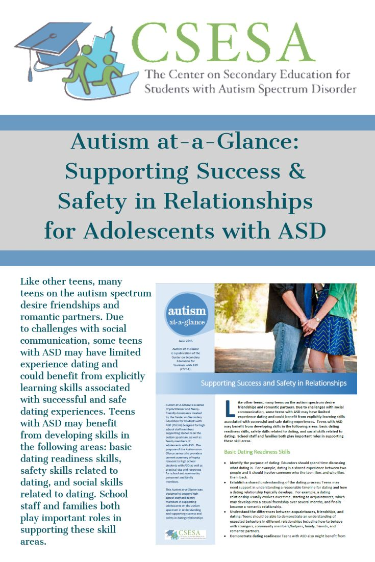 Asd Sa like other teens, many teens on the autism spectrum desire
