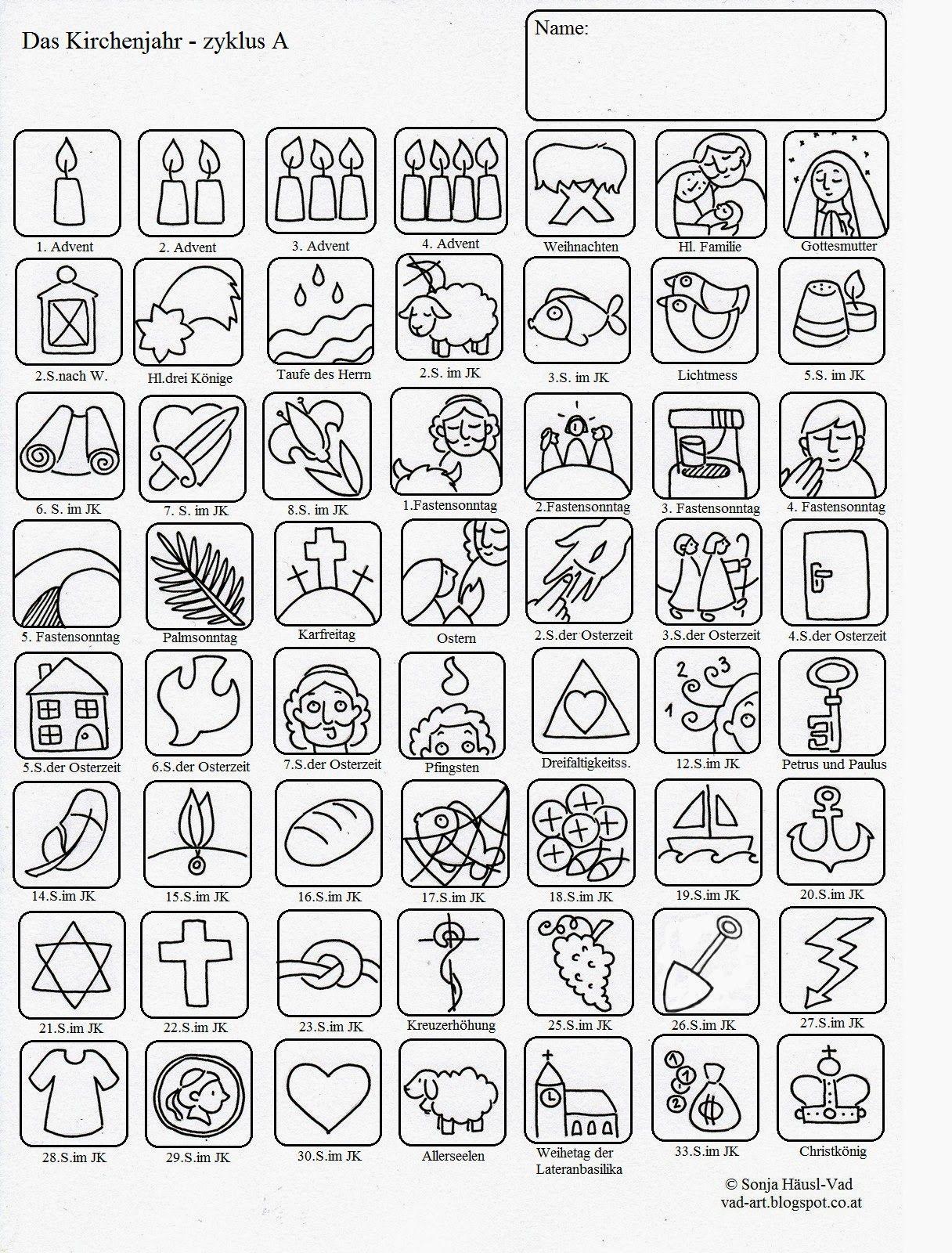 Ausmalbilder zur Bibel: Liturgischer Kalender für Kinder | Kodowanie ...