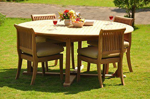 gradea teak wood dining set 4 seater 5 pc 72 round table and 4, Esstisch ideennn