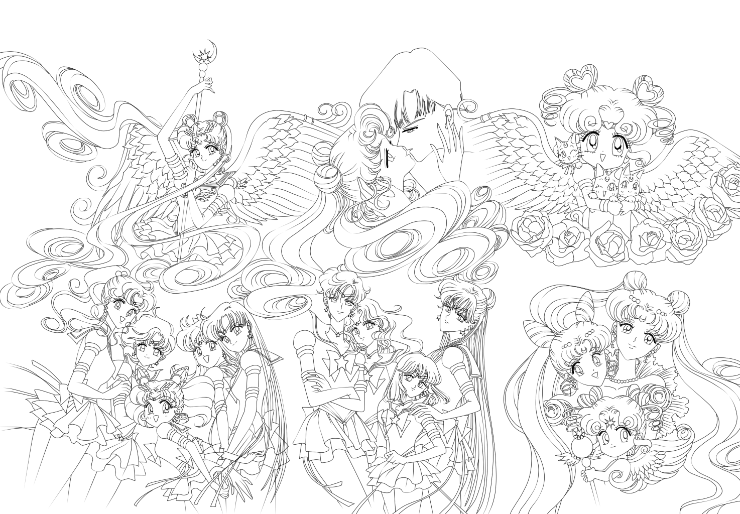 Sailor Moon Coloring page!!!! (With images) | Sailor moon coloring ...