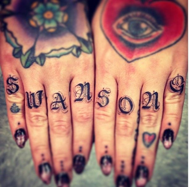 Tattoos font for girls on hand