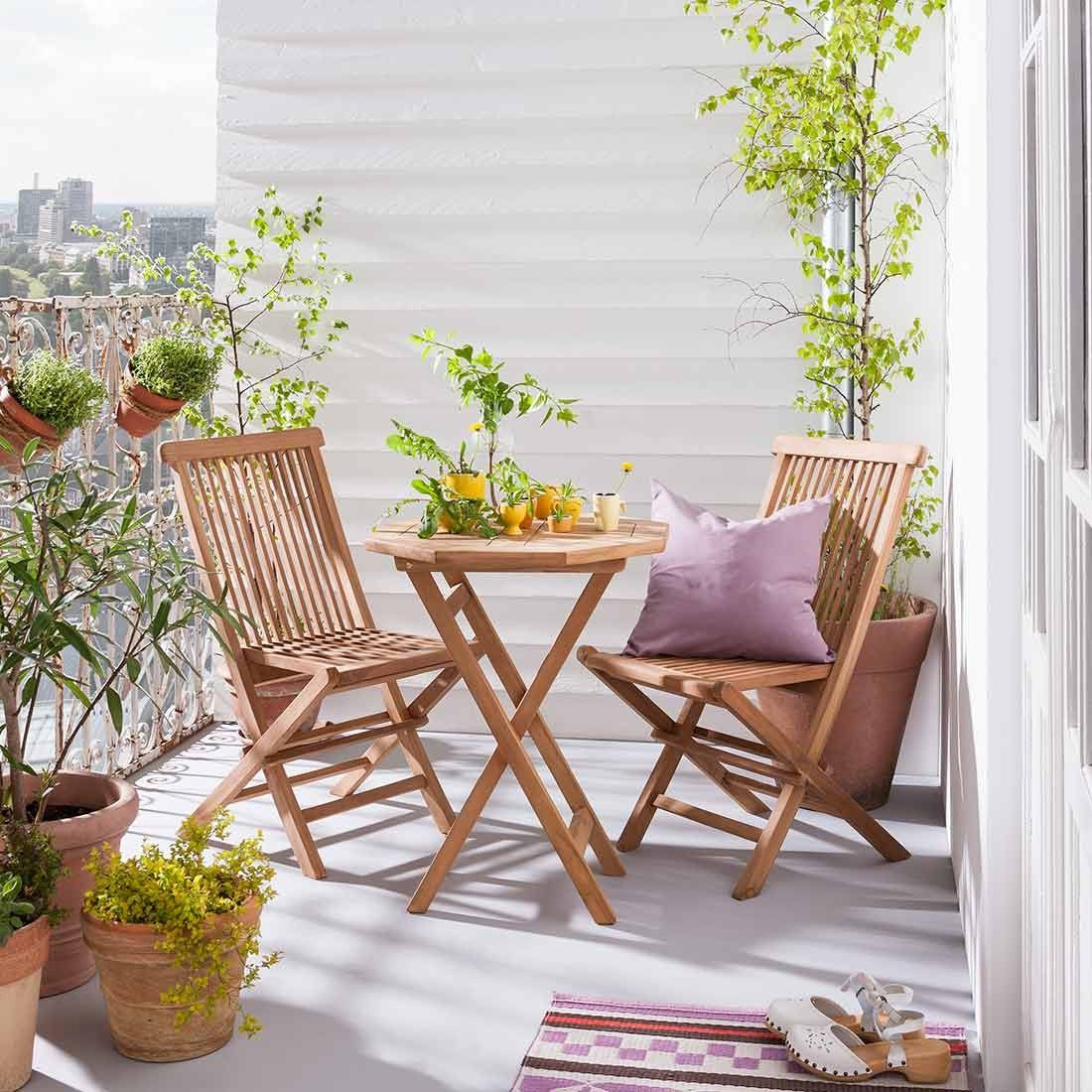 Outliv Seattle Balkonset Klein 3 Teilig Teak Golden Aktuelle Werbung Sale Garten Freizeit Teak Hochwertige Gartenmobel Gartenmobel