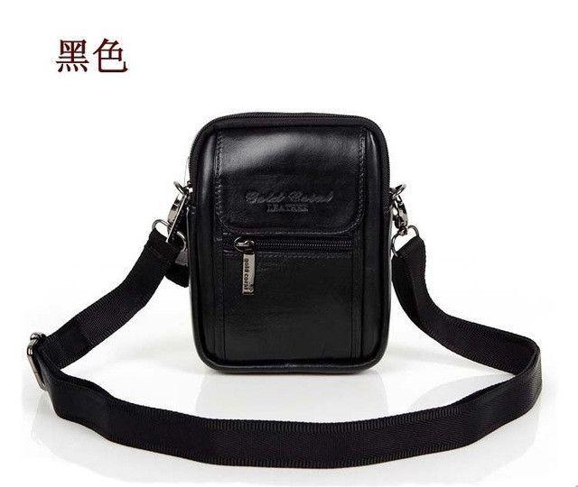 a797b2d691 male casual shoulder bag man bag waist pack cowhide genuine leather bag  strap mobile phone bag