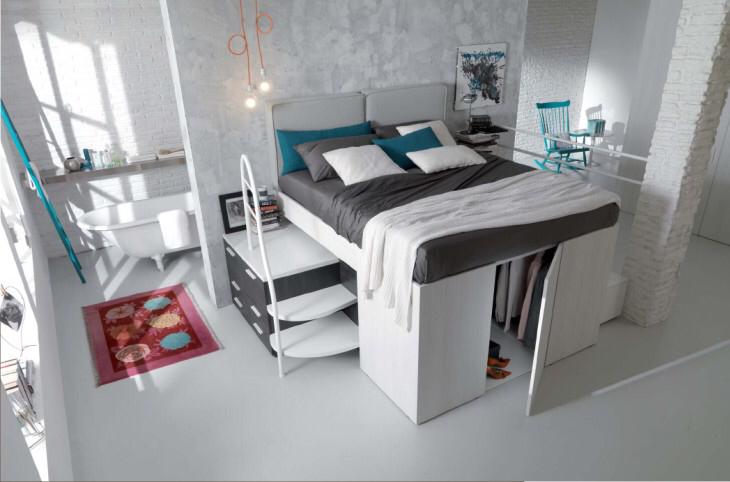Soppalco Letto Matrimoniale.Letto Matrimoniale A Soppalco In 2020 Space Saving Furniture