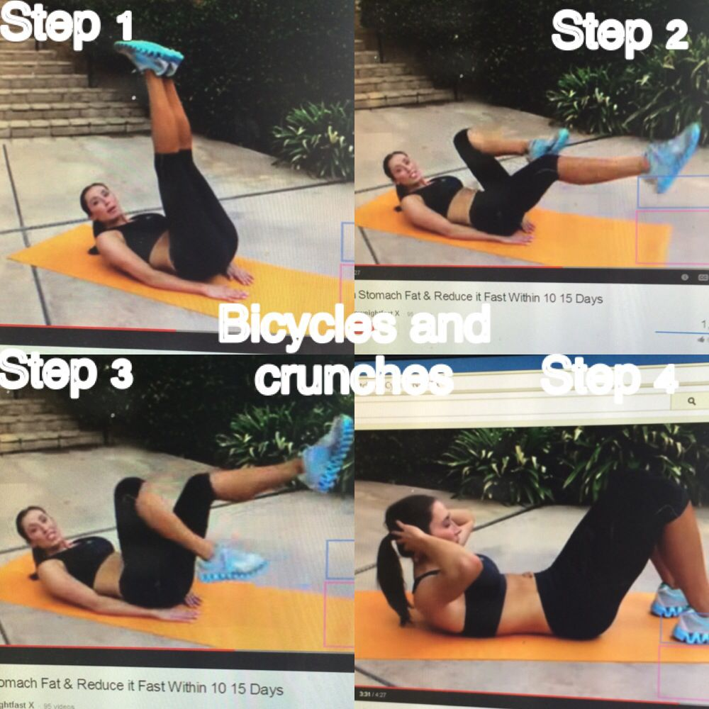 Bicycle Kicks And Crunches With Images Bicycle Kick Workout