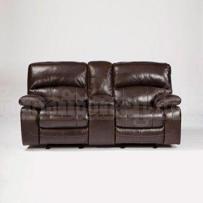 Damacio Dark Brown Glider Reclining Loveseat W Power Furniture