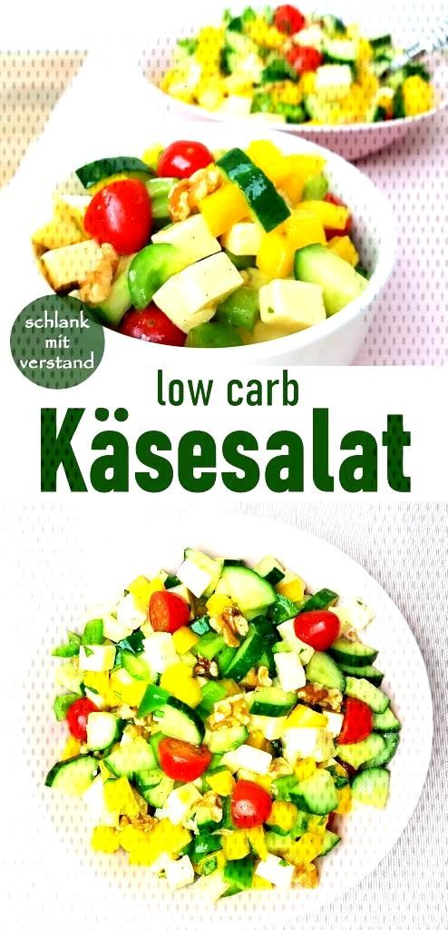 Low carb cheese salad -  Cheese salad low carb A nice summer recipe. Perfect for losing weight as p