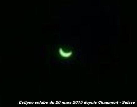Eclipse solaire du 20 mars 2015 depuis Chaumont - Suisse