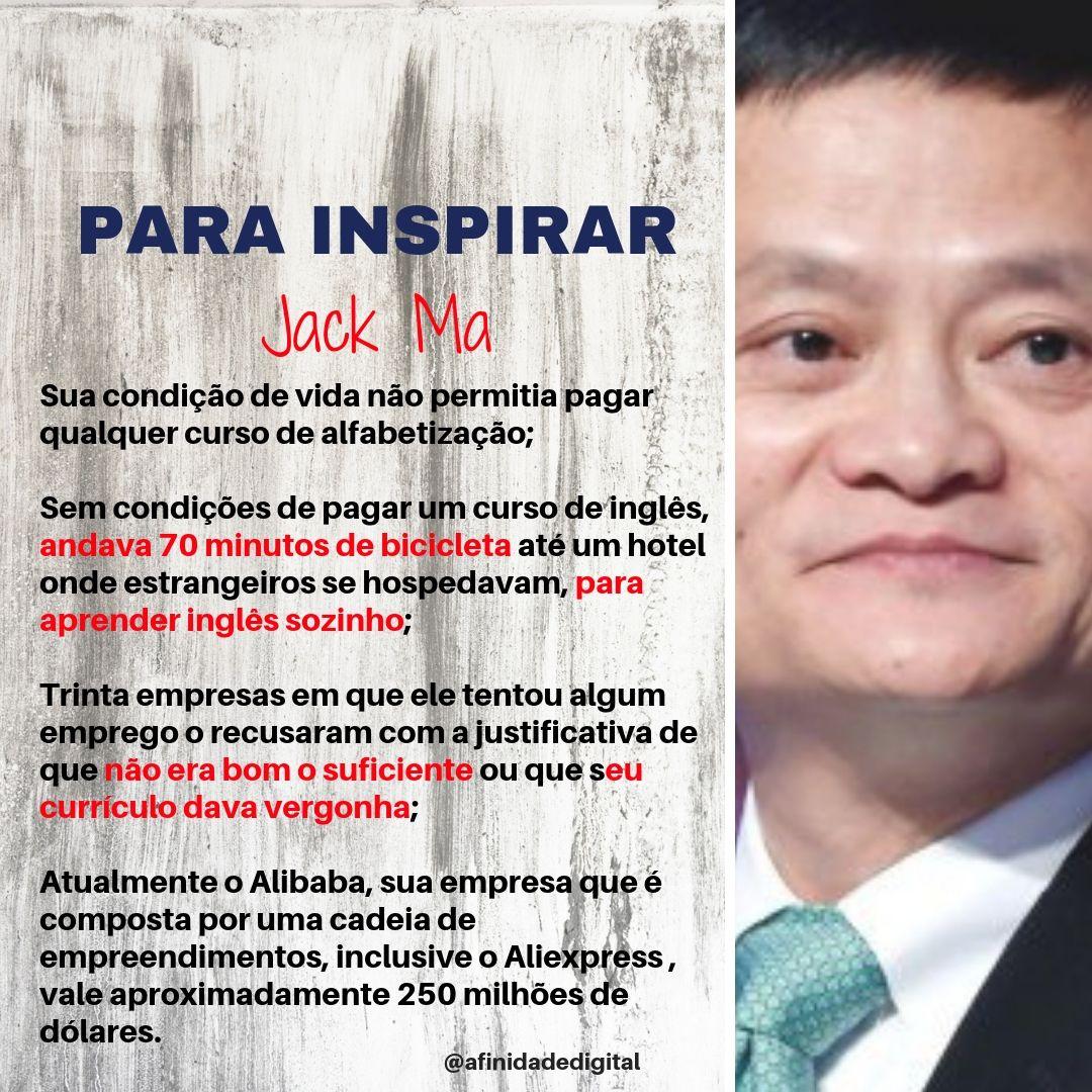 Histórias Para Inspirar Você Sabe Quem é Jack Ma O