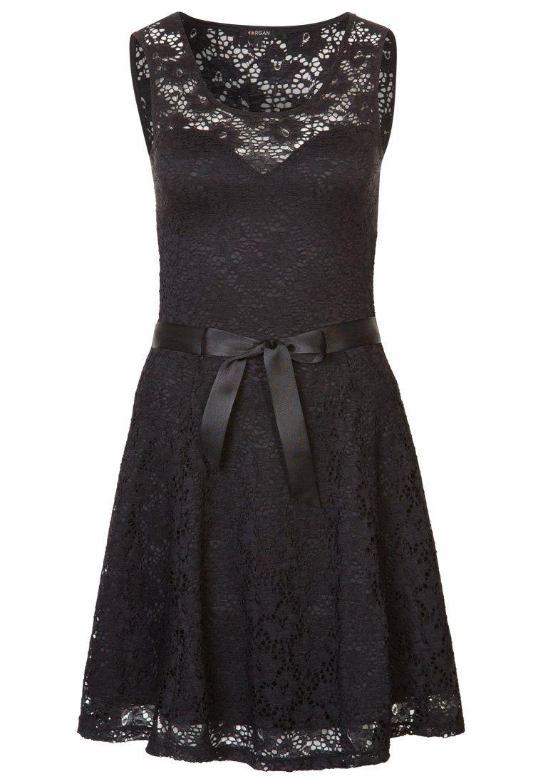Vestido negro morgan