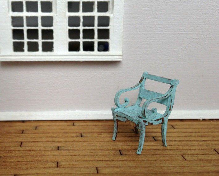 Quarter Scale Swirl Chair Kit Mini Dollhouse Doll Miniature 1:48 1/4 Shabby Chic #SmallScaleLiving