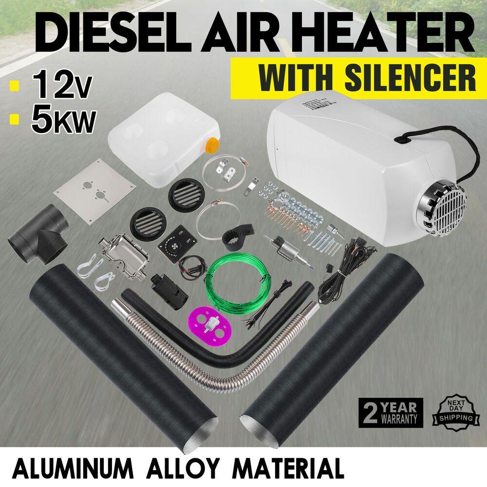 8KW 12V Diesel Air Heater Metal Shell LCD 15L Tank For Trucks Boat Cars Trailer