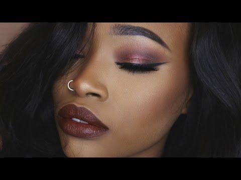 "dark eyes  lips ""bombshell"" valentine's makeup tutorial"