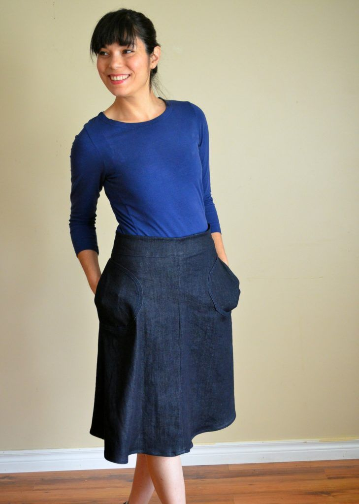 A-Line skirt Free Sewing Pattern - On the Cutting Floor: Printable ...