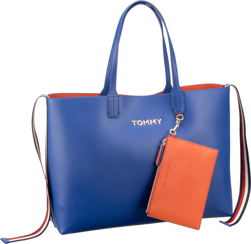 Tommy Hilfiger Shopper Iconic Tommy Tote Surf The Web Koi Innen Orange Taschen Damentasche Bags Shopper Handtaschen Handba Shopper Taschen Beuteltasche