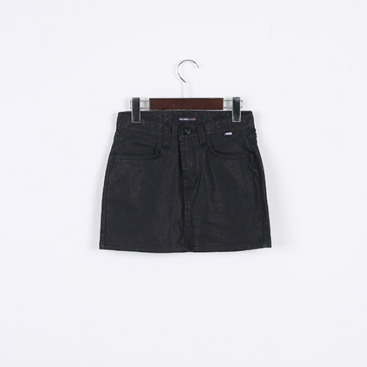 Korea womens shopping mall [REALCOCO] Leather date SKT / Size : FREE / Price : 22 USD #fashion #ファッション #女装 #realcoco #bottom #skirts #leather #dailylook