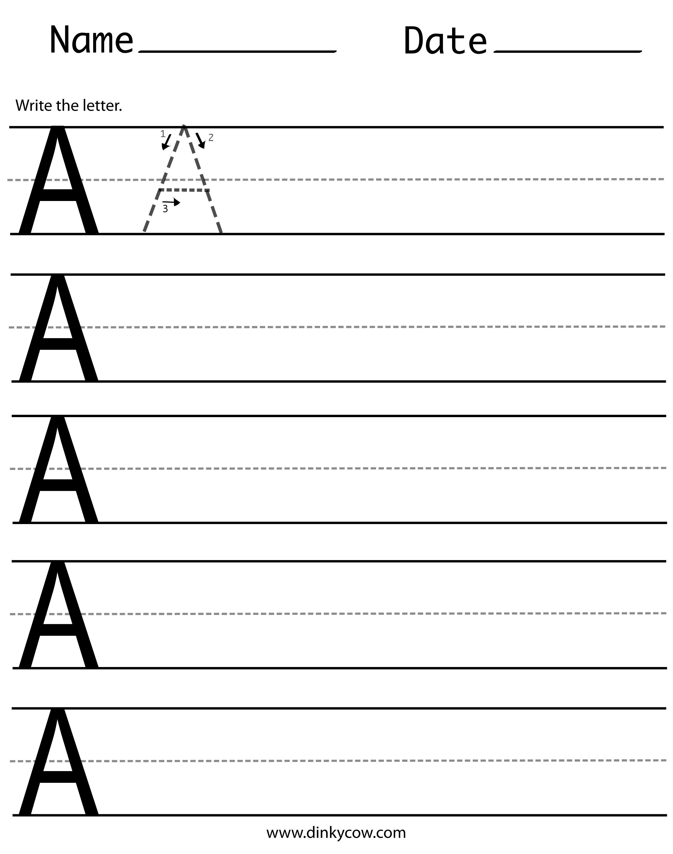 Printable Cursive Writing Worksheet For Middle School