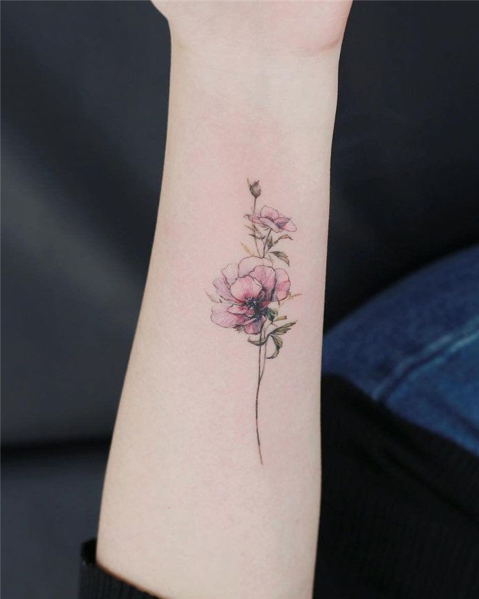60 Cute Flower Tattoos For Women 2019 Tasteful Tattoos Tattoos For Women Flower Wrist Tattoos