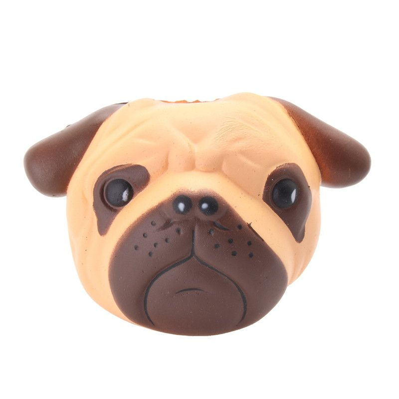 Puppy Head Slow Rising Squishy Bulldog Squeeze Soft Toy Pressure