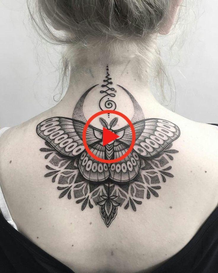 tattoo mandala schmetterling frau zurück