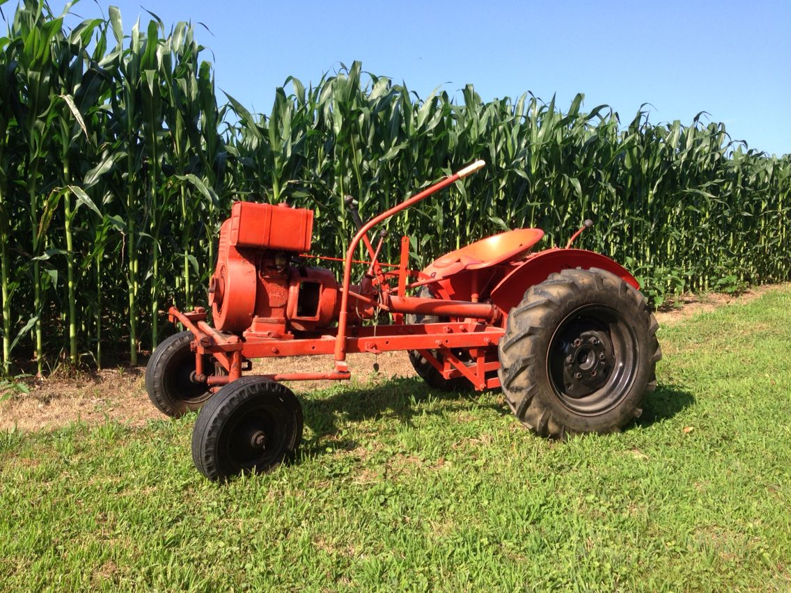1954 Power King Tiller Steer Tractor With Images Home
