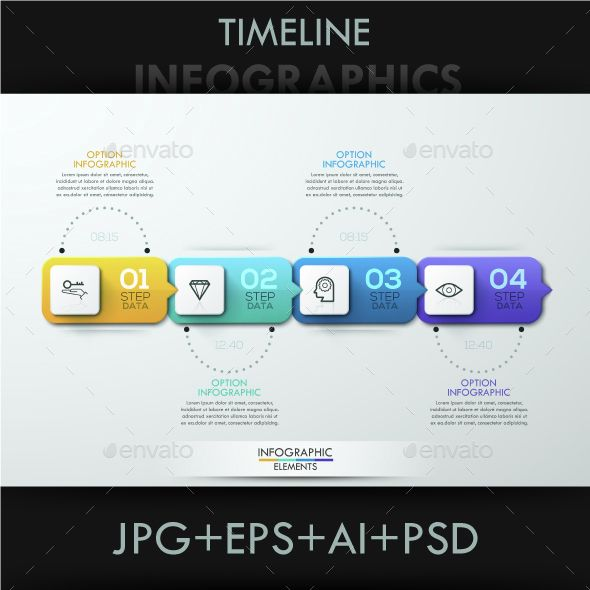 Minimal Paper Timeline Template  Infographic Templates Template