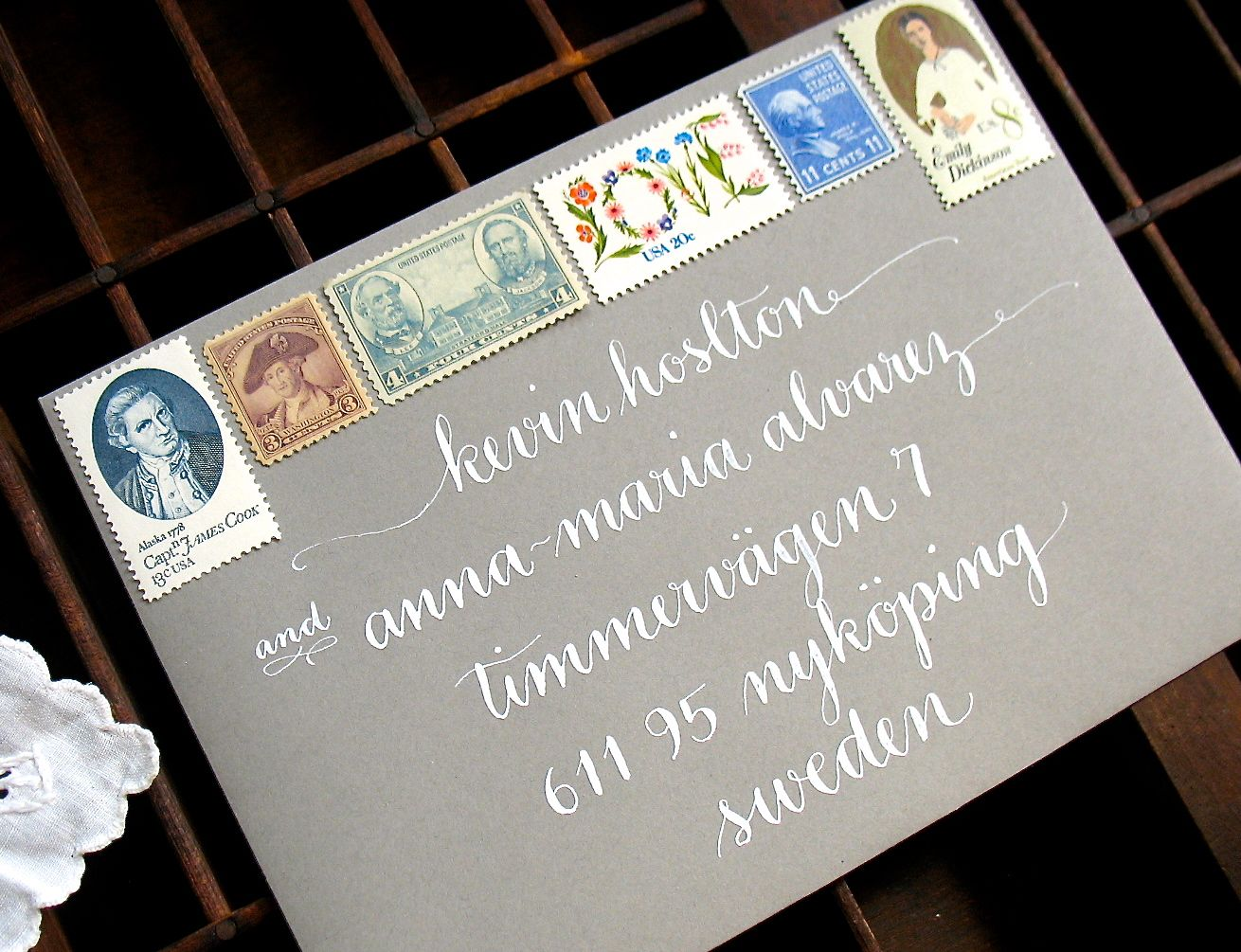 Wedding invitation envelope calligraphy. From Letter Be calligraphy ...