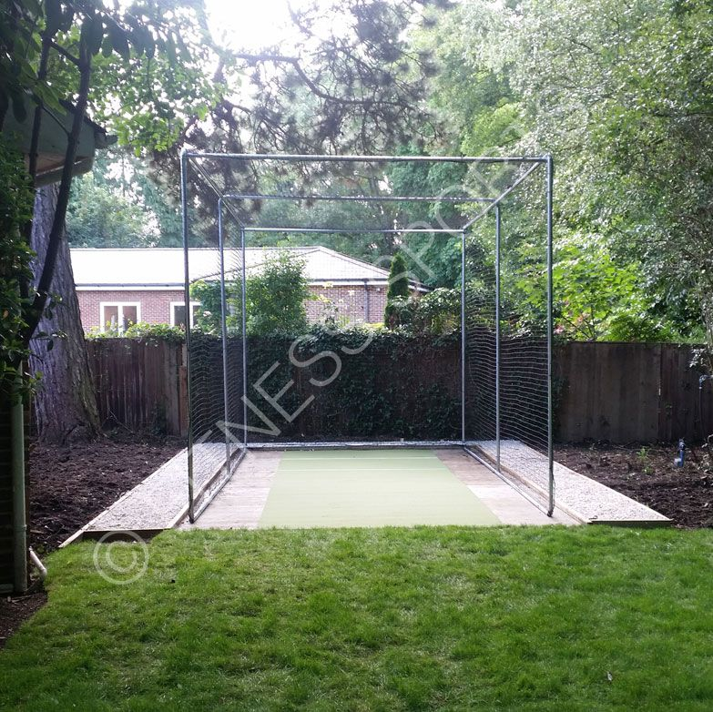 Freestanding Steel Cricket Batting Net Practice Enclosure A Durable Outdoor Non Permanent Batting Cage That Requir Backyard Makeover Cricket Nets Dream Garden