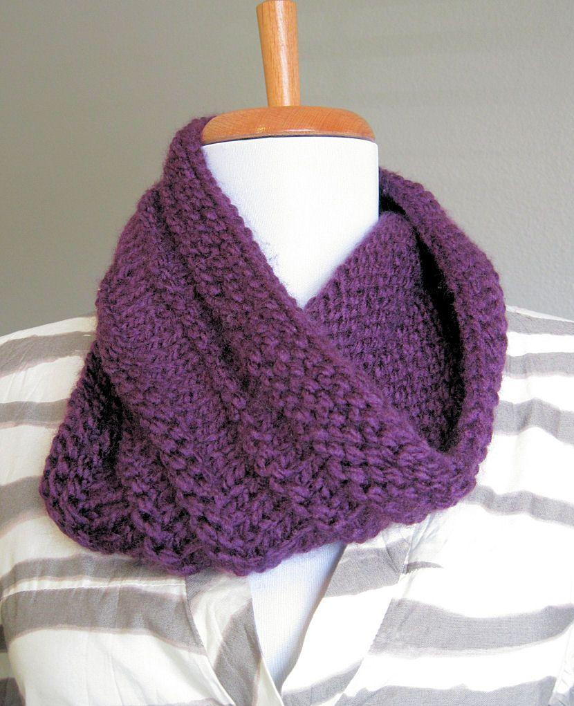 DIY: Purple Knit Cowl | In the Hammock Vintage Style | Knitting ...