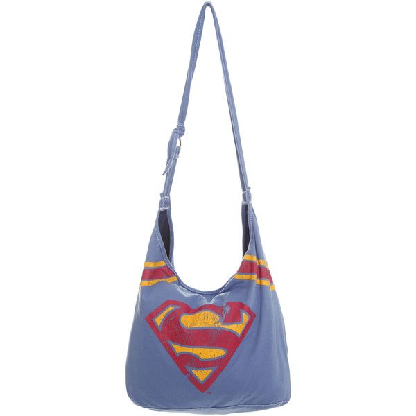 Dc Comics Superman Hobo Bag Hot Topic 6 99 Liked On Polyvore Featuring