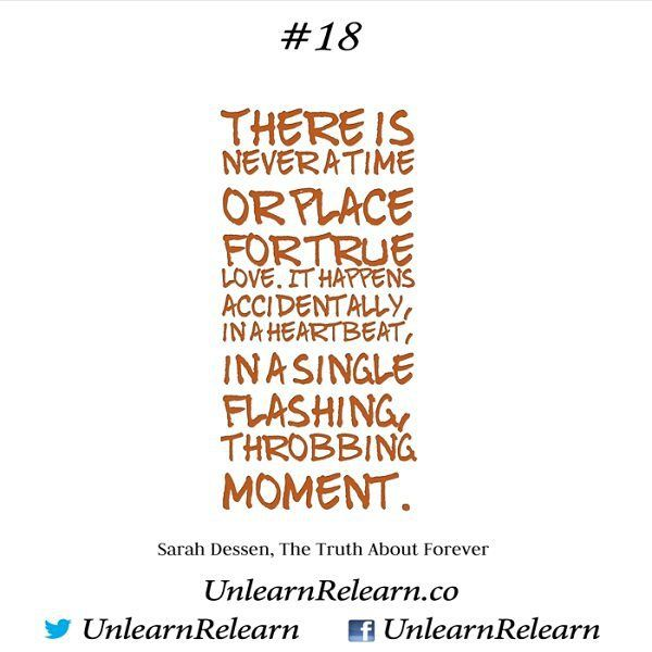 #SarahDessen #Love #truth #LCW #LifeChangingArt #LCA #LifeChangingWords #quote #quotes #instaquote #instadaily #instalove