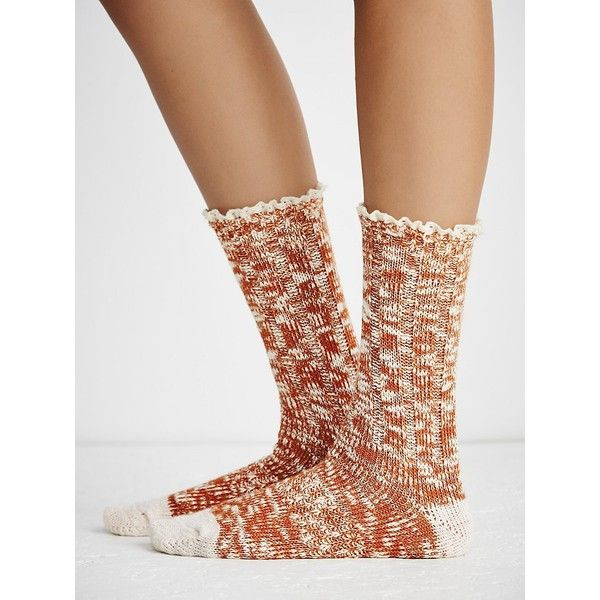 e9ce6a4c20 Melbourne Heathered Crew Socks (€13) ❤ liked on Polyvore featuring  intimates