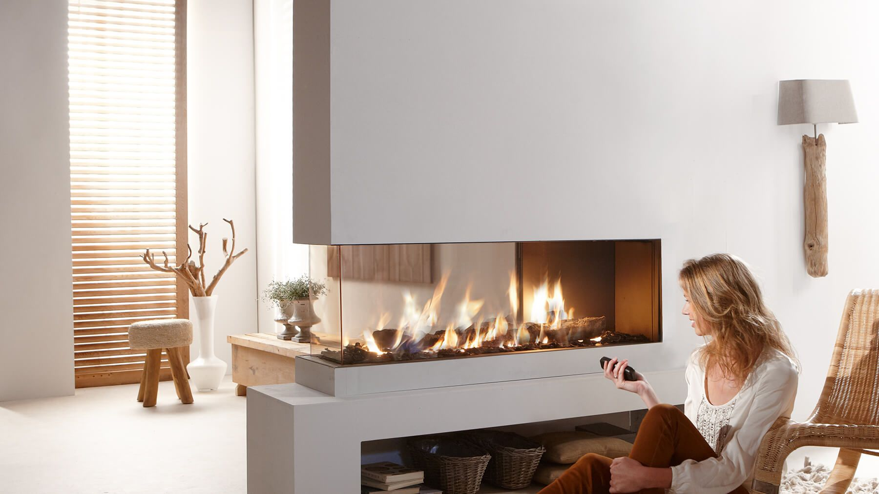Roomdivider 150 Three Sided Balanced Flue Gas Fireplace Gashaard Openhaard Ontwerp Haard