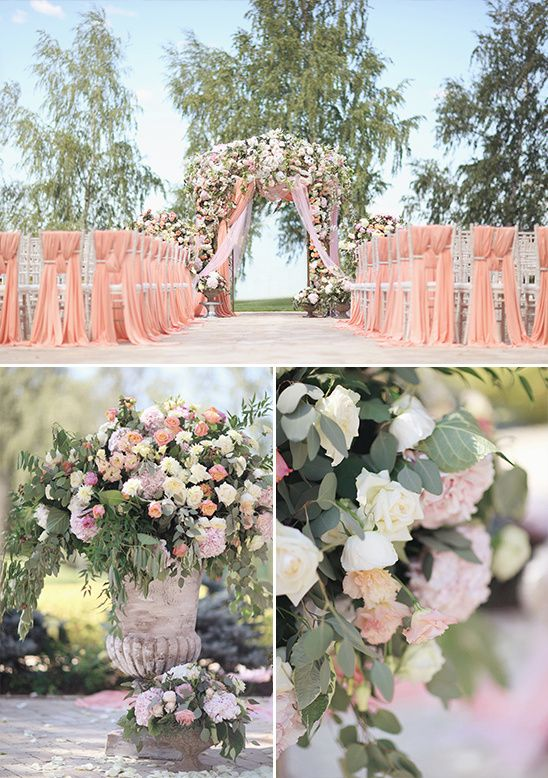 pink ceremony arch @weddingchicks