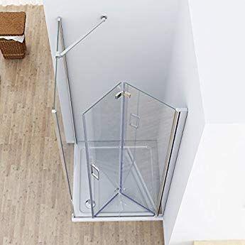 Duschkabine 90x80 Eckeinstieg Dusche Falttür 90cm