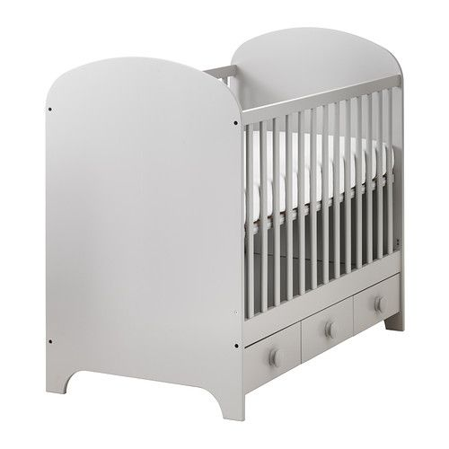 Gonatt Crib Light Gray 27 1 2x52 With Images Ikea Baby
