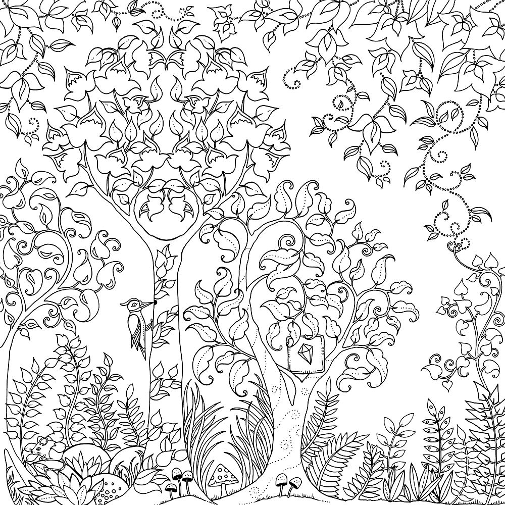 Johanna Basford Art 2 (With images) | Cute coloring pages ...