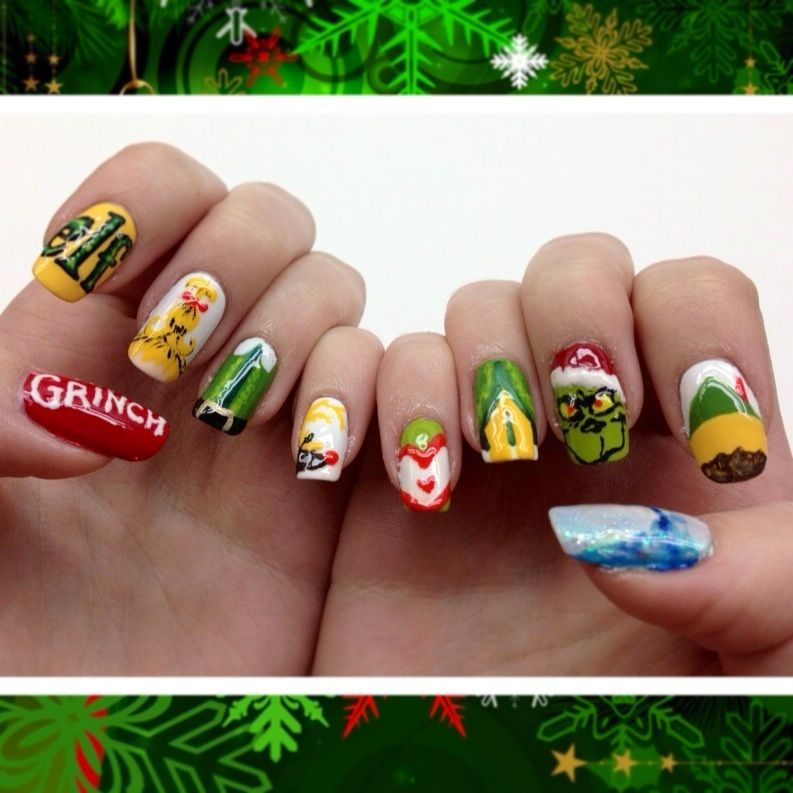 Christmas Nails Elf: My New Christmas Nails Inspired By The Grinch And Elf