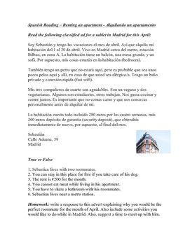 spanish subjunctive reading advert lectura en el subjuntivo sub plan spanish german. Black Bedroom Furniture Sets. Home Design Ideas