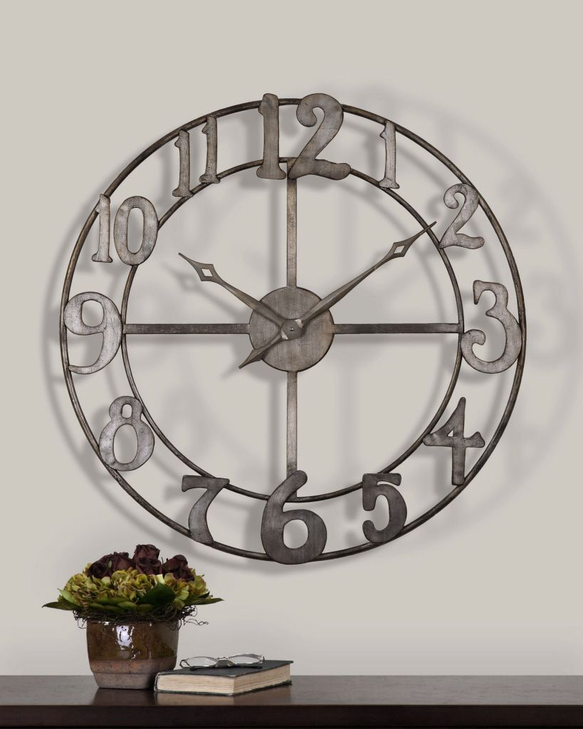 Uttermost Delevan Large Wall Clock With Open Design 06681 Open Designs Are  Awesome!
