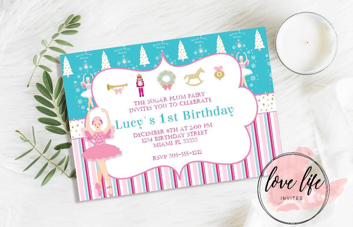Sugar Plum Fairy Invitation | Nutcracker Invitation | Christmas ...