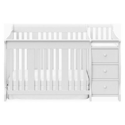 Storkcraft Portofino 4 In 1 Convertible Crib And Changer White Convertible Crib Storkcraft Cribs