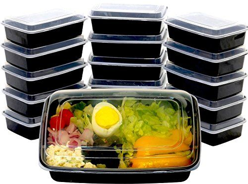 16 Pack Simplehouseware Reusable Stackable Meal Prep Containers