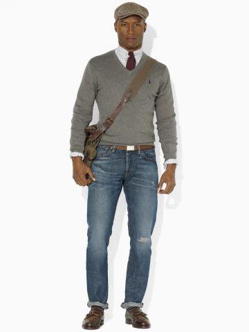 Pima Cotton V-Neck Sweater - Polo Ralph Lauren V-Neck - Ralph Lauren UK
