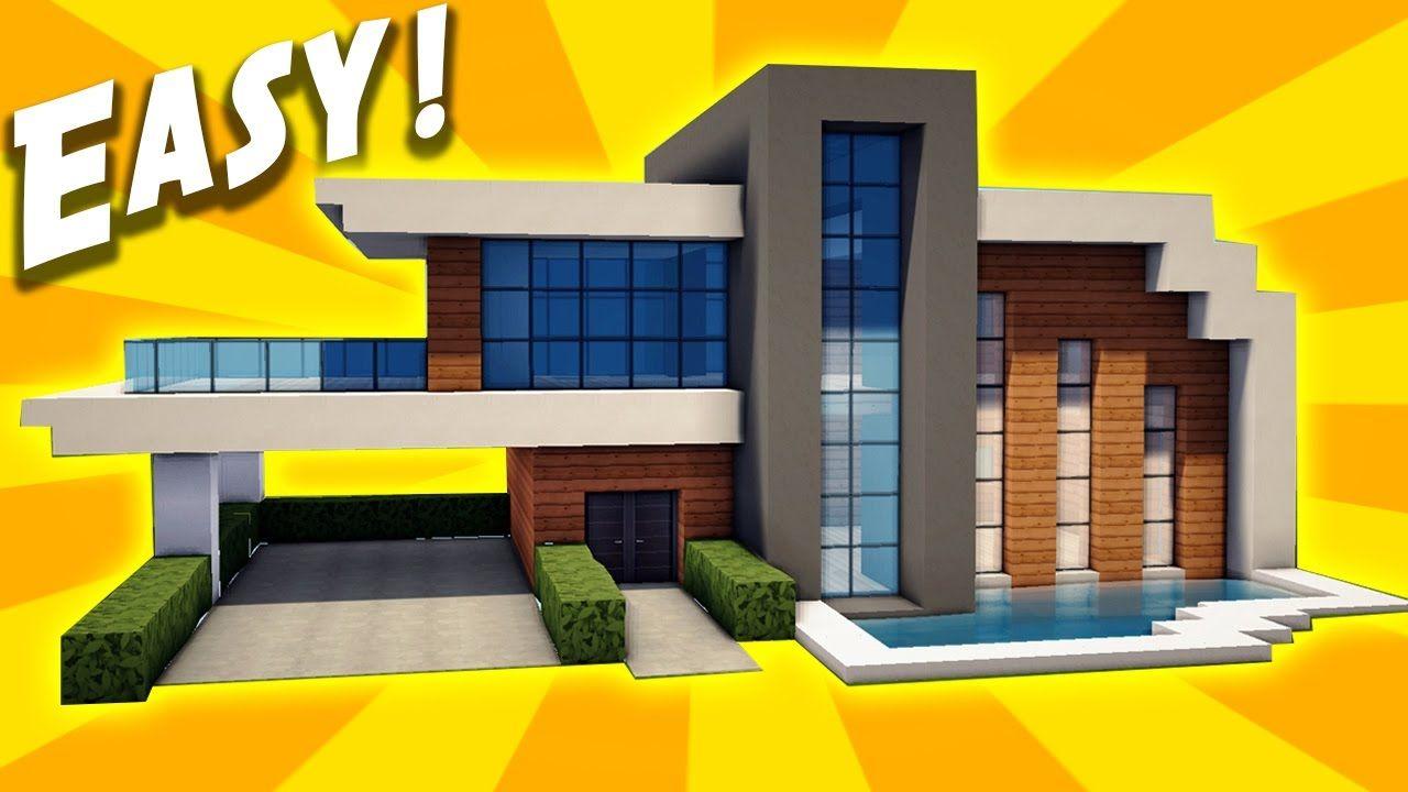 Minecraft Easy Modern House Tutorial