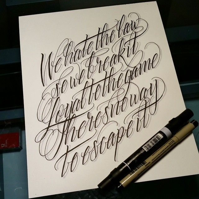 Tattoo Quotes Letter Style: Typography Inspiration